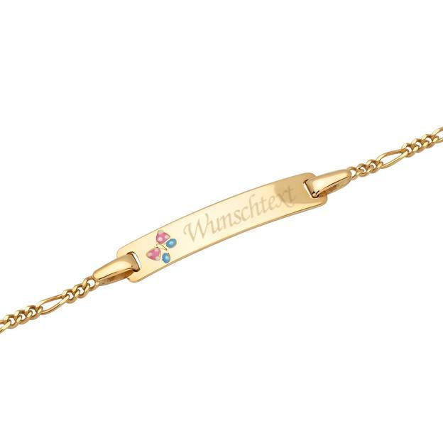 Bracelet Papillon enfant or 375 personnalisable
