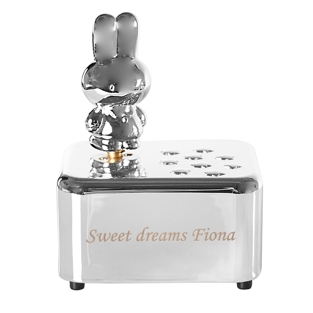 miffy bo te musique argent personnalisable. Black Bedroom Furniture Sets. Home Design Ideas