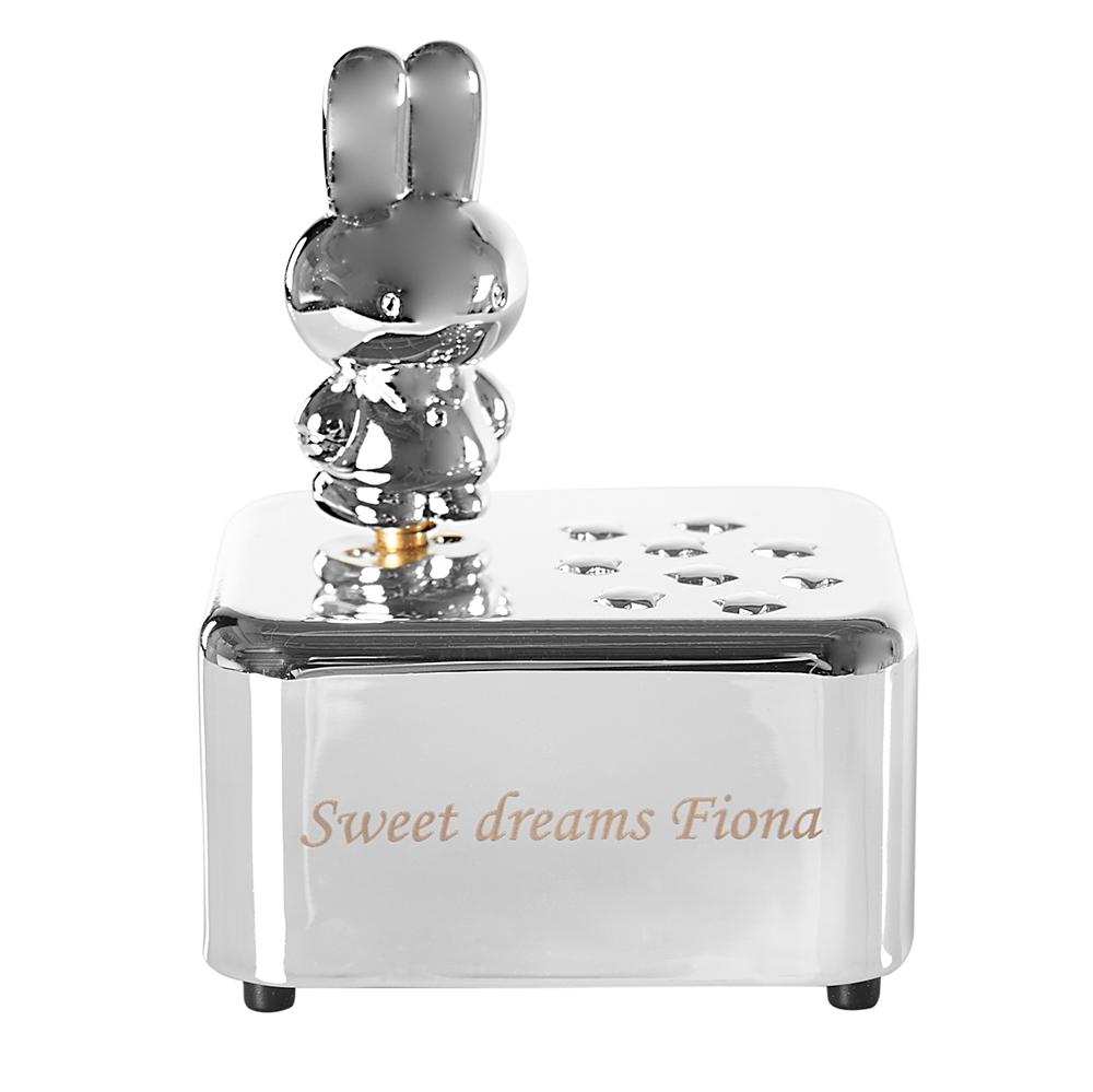 personalisierbare spieluhr miffy der hase. Black Bedroom Furniture Sets. Home Design Ideas