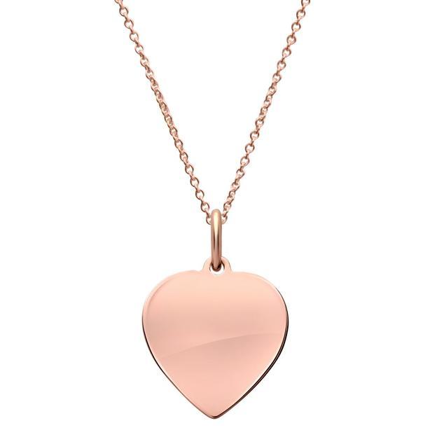 Pendentif coeur en or plaqué rose