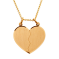 Personalisierbarer Anhänger Broken Heart Gold
