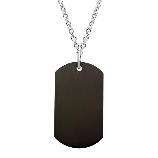 Pendentif Dog Tag noir personnalisable