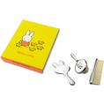 Personalisierbares versilbertes Kinder Frisierset Miffy