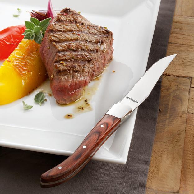 Coffret 6 couteaux à steak personnalisé par Amefa