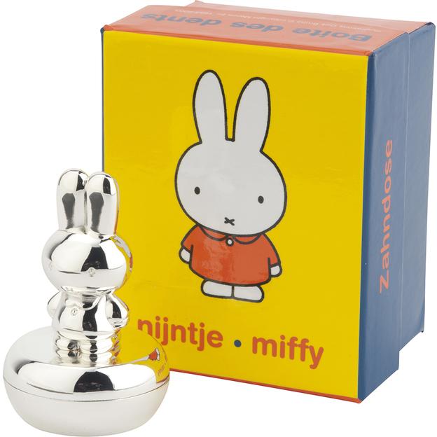 Personalisierbare versilberte Zahndose Miffy