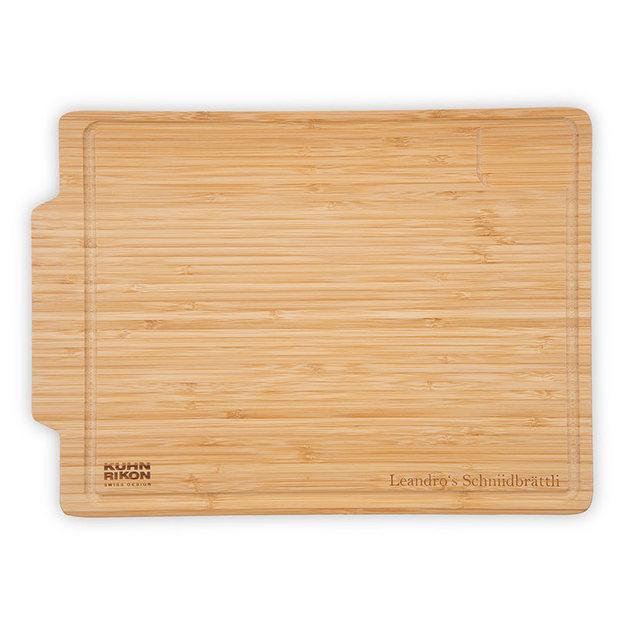 Planche à découper personnalisable en bambou Kuhn Rikon