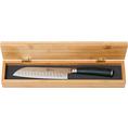 Couteau personnalisable Midori Santoku étui en bois