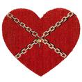 Personalisierbare Fussmatte Herz mit Schloss