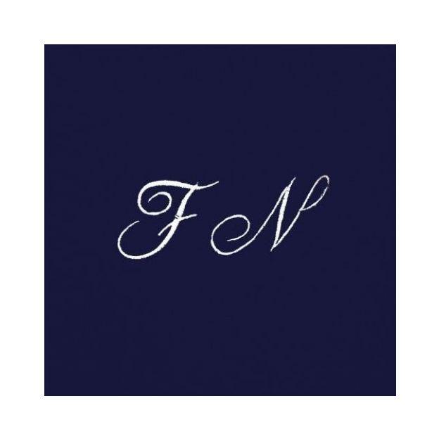 Drap de bain à vos initiales bleu nuit
