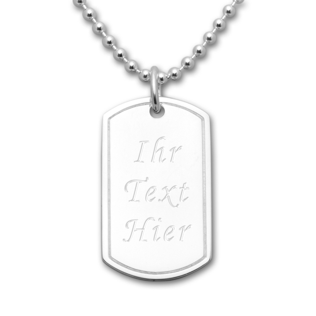 Personalisierbarer Anhänger Dog Tag 925 Sterling Silber