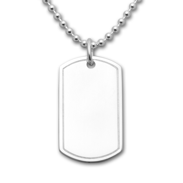 Pendentif Dog Tag argent 925 personnalisable