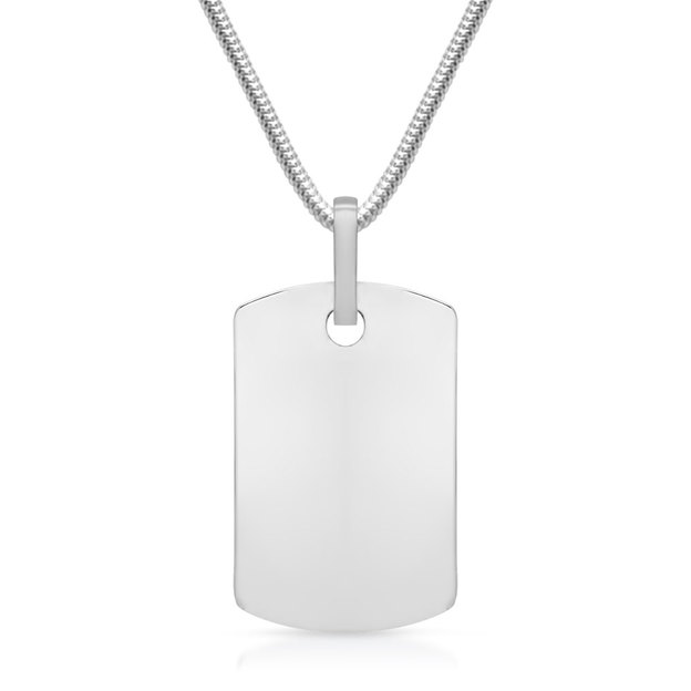 Personalisierbarer Anhänger Dog-Tag Silber