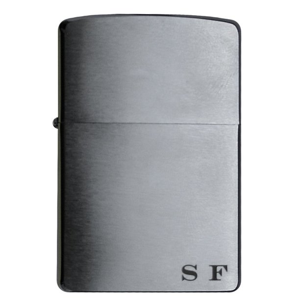 Personalisierbares Zippo Feuerzeug Regular Chrome Brush Finish