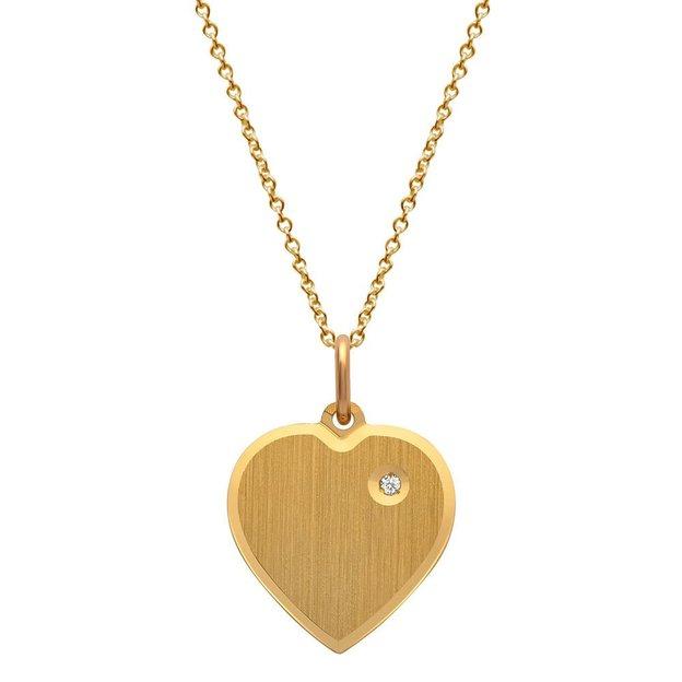 Pendentif cœur personnalisable avec pierre incrustée
