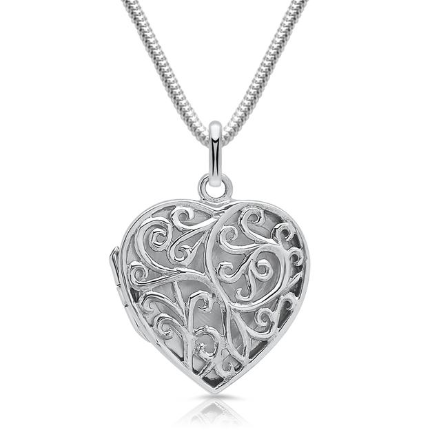 Pendentif médaillon Coeur filigrane personnalisable