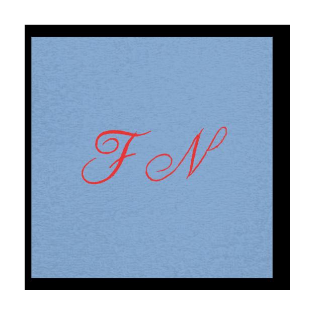 Peignoir à vos Initiales bleu ciel, Grösse XL