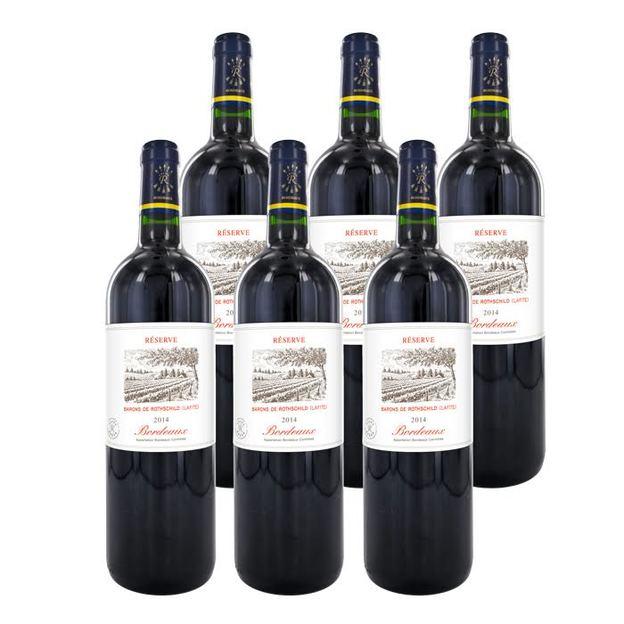 Personalisierbare Weintruhe im Kolonialstil mit 6 französischen Weinen