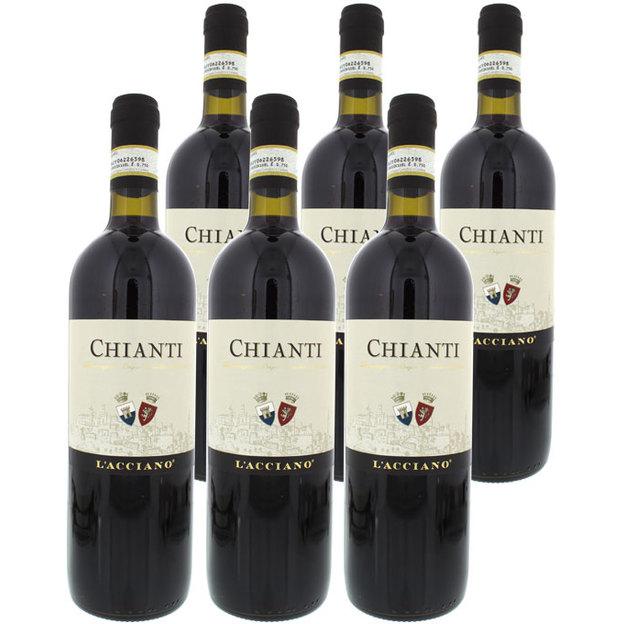 Personalisierbare Weintruhe im Kolonialstil mit 6 italienischen Weinen