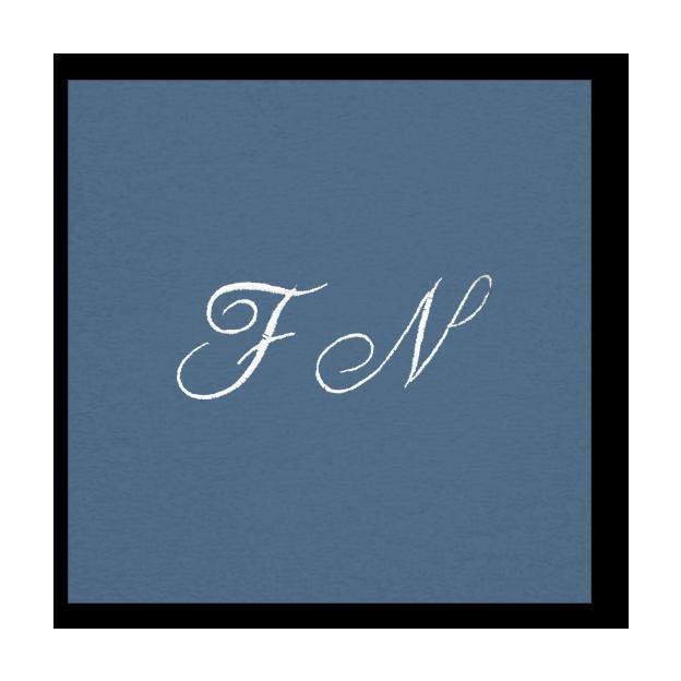 Peignoir à vos Initiales bleu-indigo, taille S