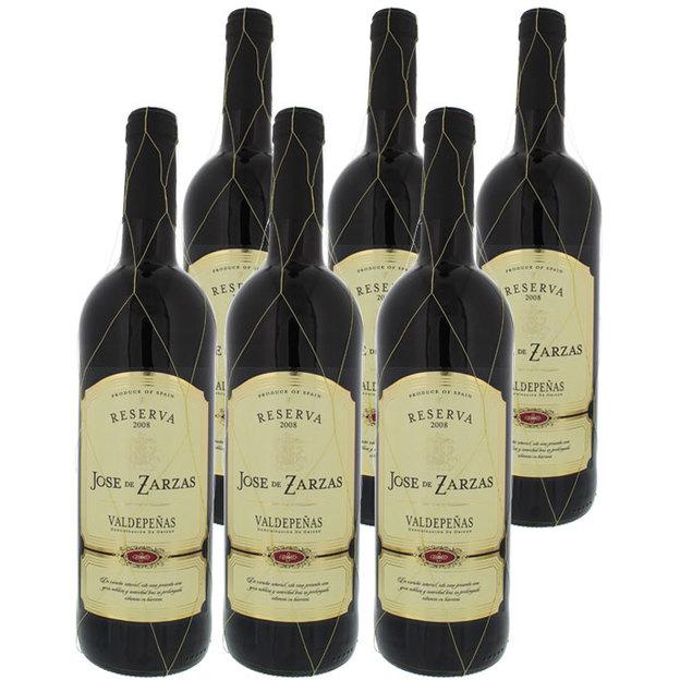 Personalisierbare Weintruhe im Kolonialstil mit 6 spanischen Weinen