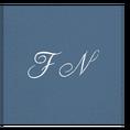 Peignoir à vos Initiales bleu-indigo, taille M