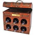 Personalisierbare Weintruhe im Kolonialstil