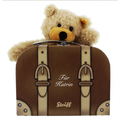 Nounours Steiff Charly dans sa valise  personnalisable