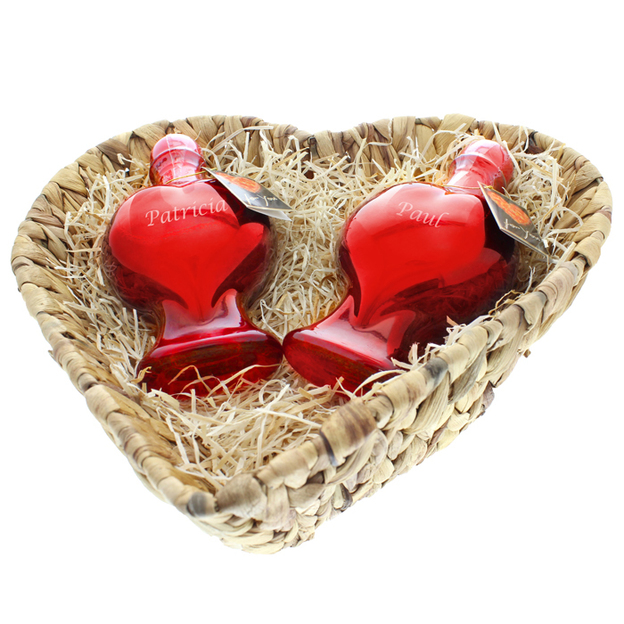 Duo personnalisable de flacons coeur Sweet Cherry