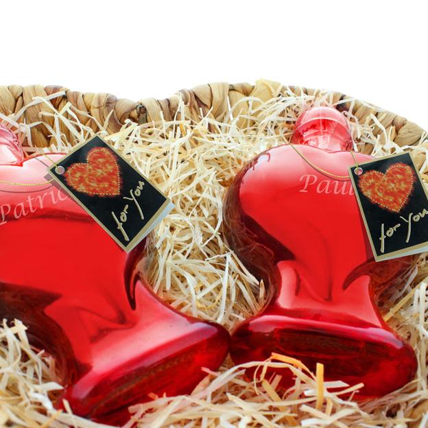 Personalisierbares Herzflaschen-Duo Sweet Cherry