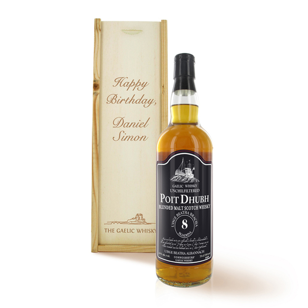 Whisky personnalisable Poit Dhubh