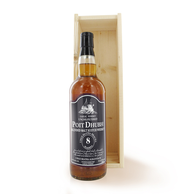 Personalisierbare Whisky-Flasche Poit Dhubh