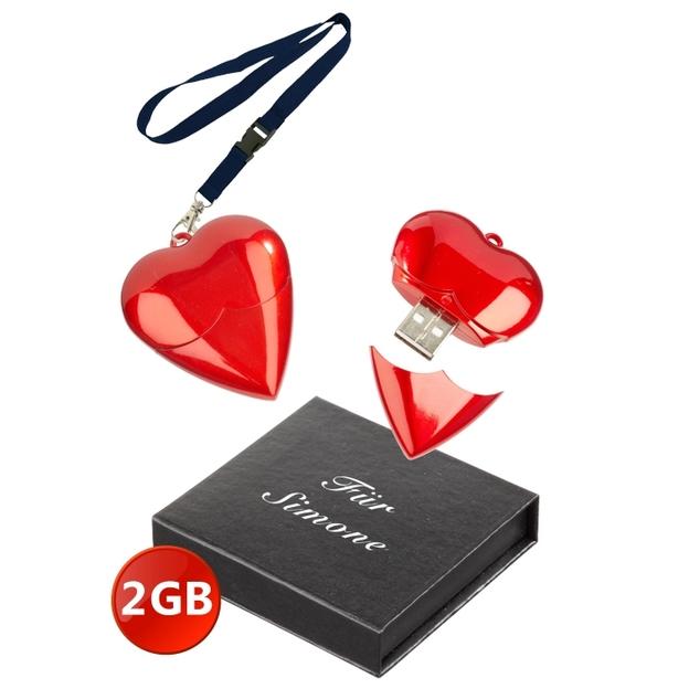 Coeur clé USB 2 Go personnalisable