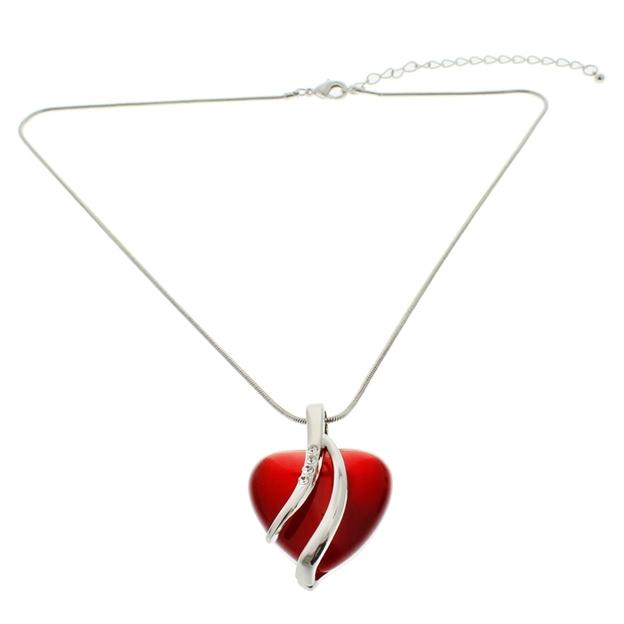 Coeur rouge à cristaux de Swarovski