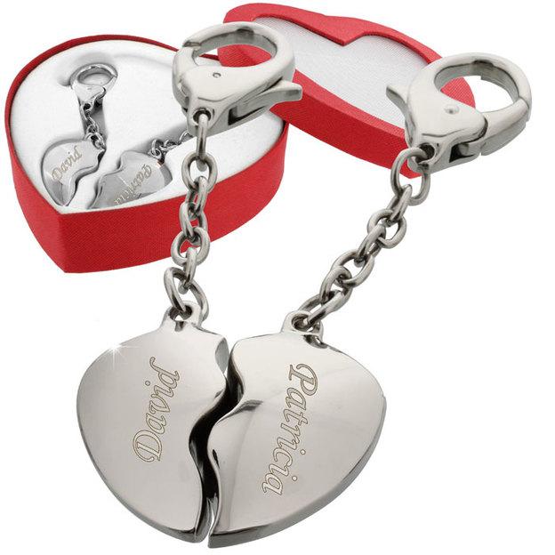 Porte clé personnalisable Coeur brisé