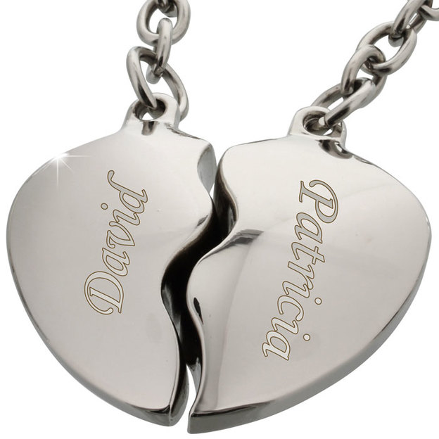 Personalisierbarer Broken Heart Schlüsselanhänger