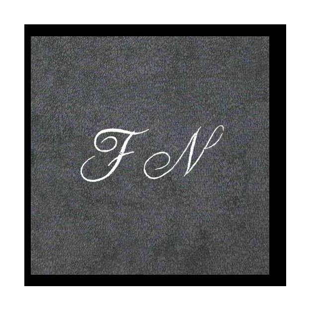 Christian Fischbacher Bademantel Granit mit Initialen, Grösse S