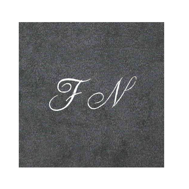 Christian Fischbacher Bademantel Granit mit Initialen, Grösse M