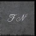 Peignoir à vos Initiales granite, taille L