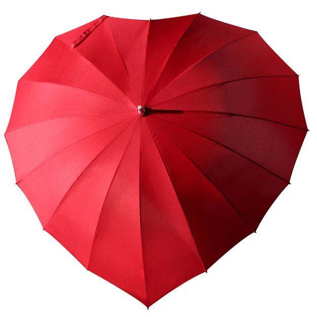 Personalisierbarer Herz-iger Schirm rot