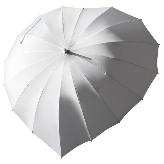 Personalisierbarer Herz-iger Schirm Weiss