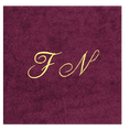 Christian Fischbacher Bademantel Bordeaux-Rot mit Initialen, Grösse S
