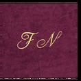 Christian Fischbacher Bademantel Bordeaux-Rot mit Initialen, Grösse M