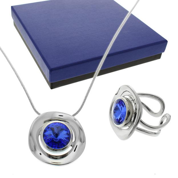 Halskette mit Ring Saphir