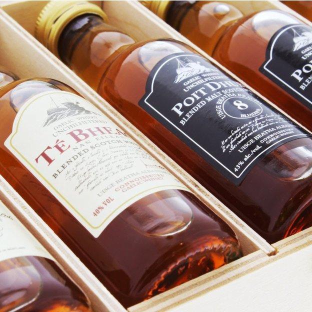 Personalisierbares Gaelic Whisky Set 5 Whisky-Sorten