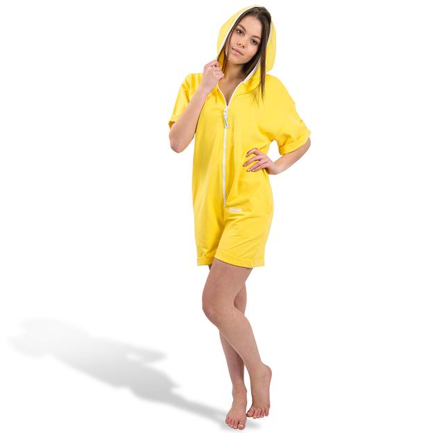 Personalisierbarer Einteiler Short Unisex Gelb