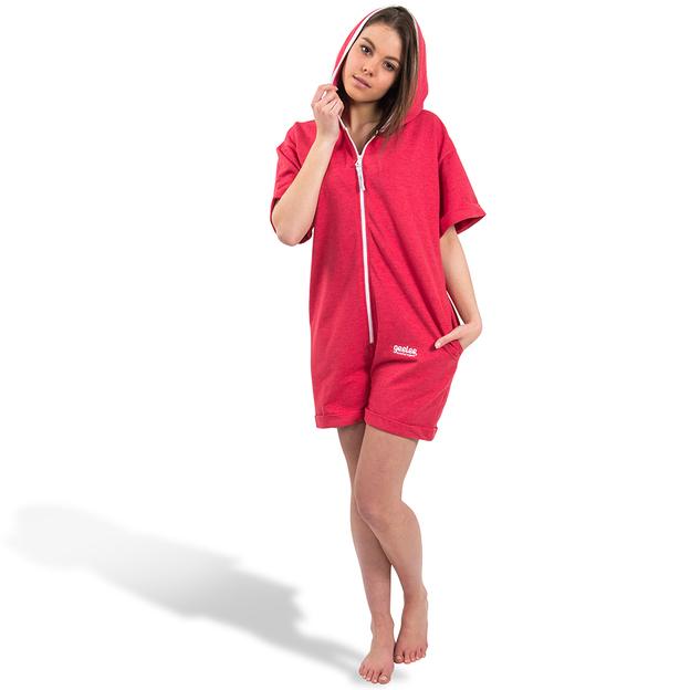 Personalisierbarer Einteiler Geelee Short Unisex Rot