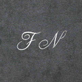 Badetücher 3er-Geschenkset mit Initialen anthrazit