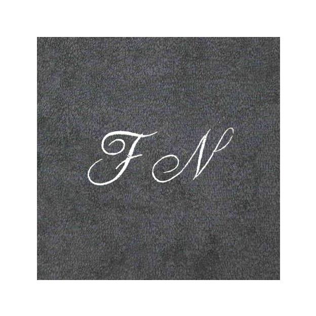 Badetücher 3er-Geschenkset mit Initialen schwarz