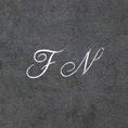 Badetücher Geschenkset mit Initialen schwarz