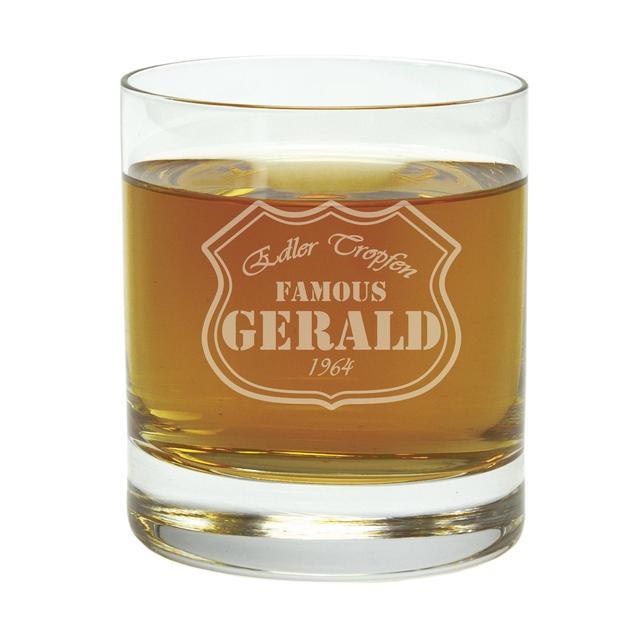 Personalisierbares Whisky-Glas mit Gravur